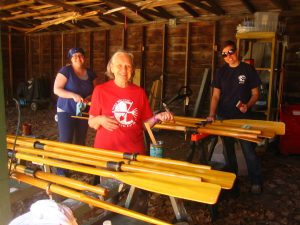 Refinishing oars