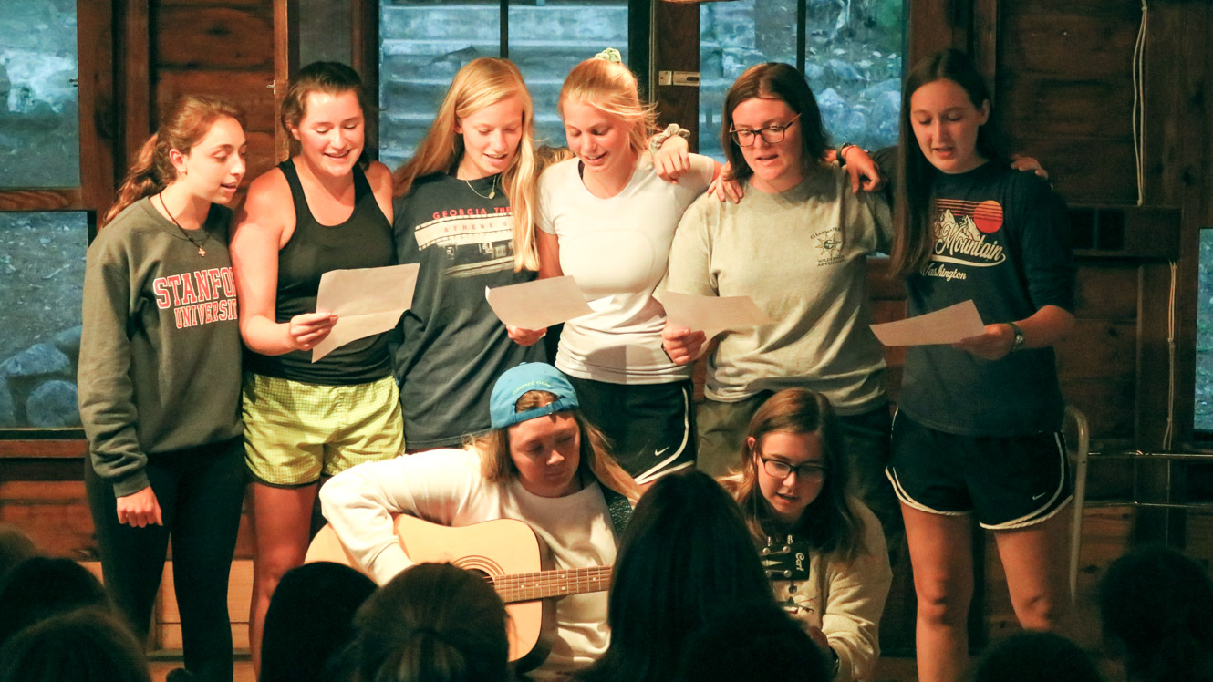 Campers perform in camp talent show