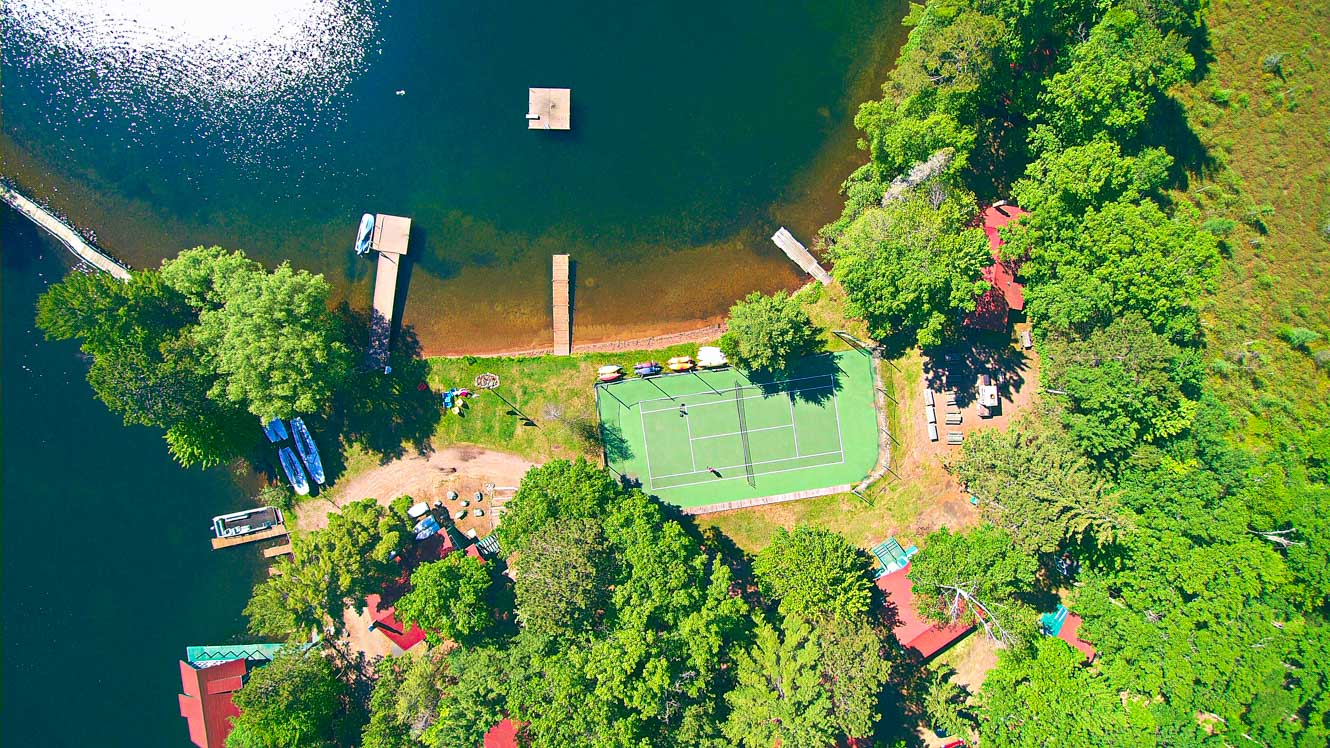Aerial view of Clearwater Camp location