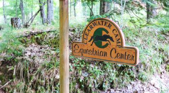Clearwater Camp Equestrian Center sign