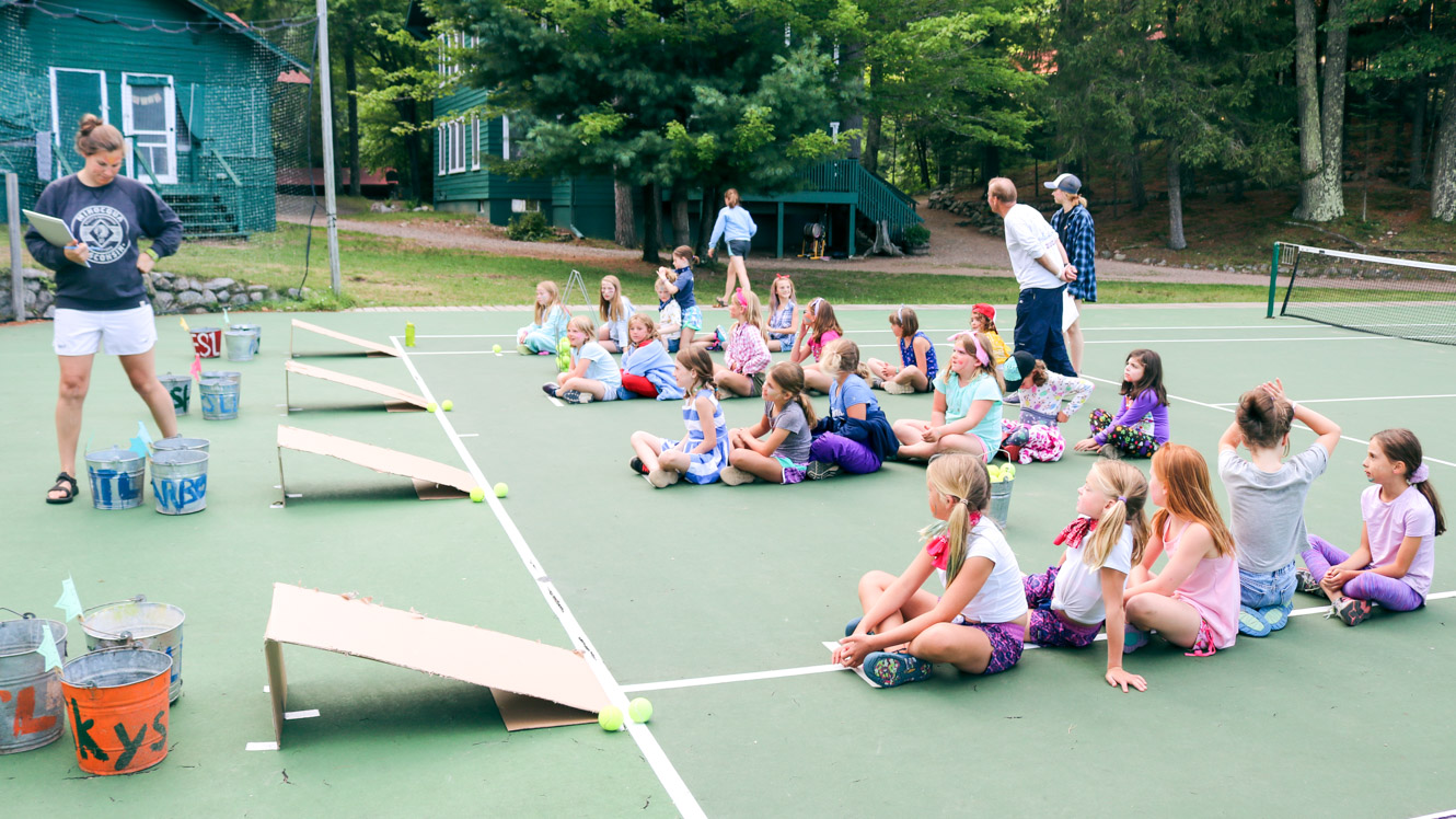 Campers prepare for game at Harbor Carnival