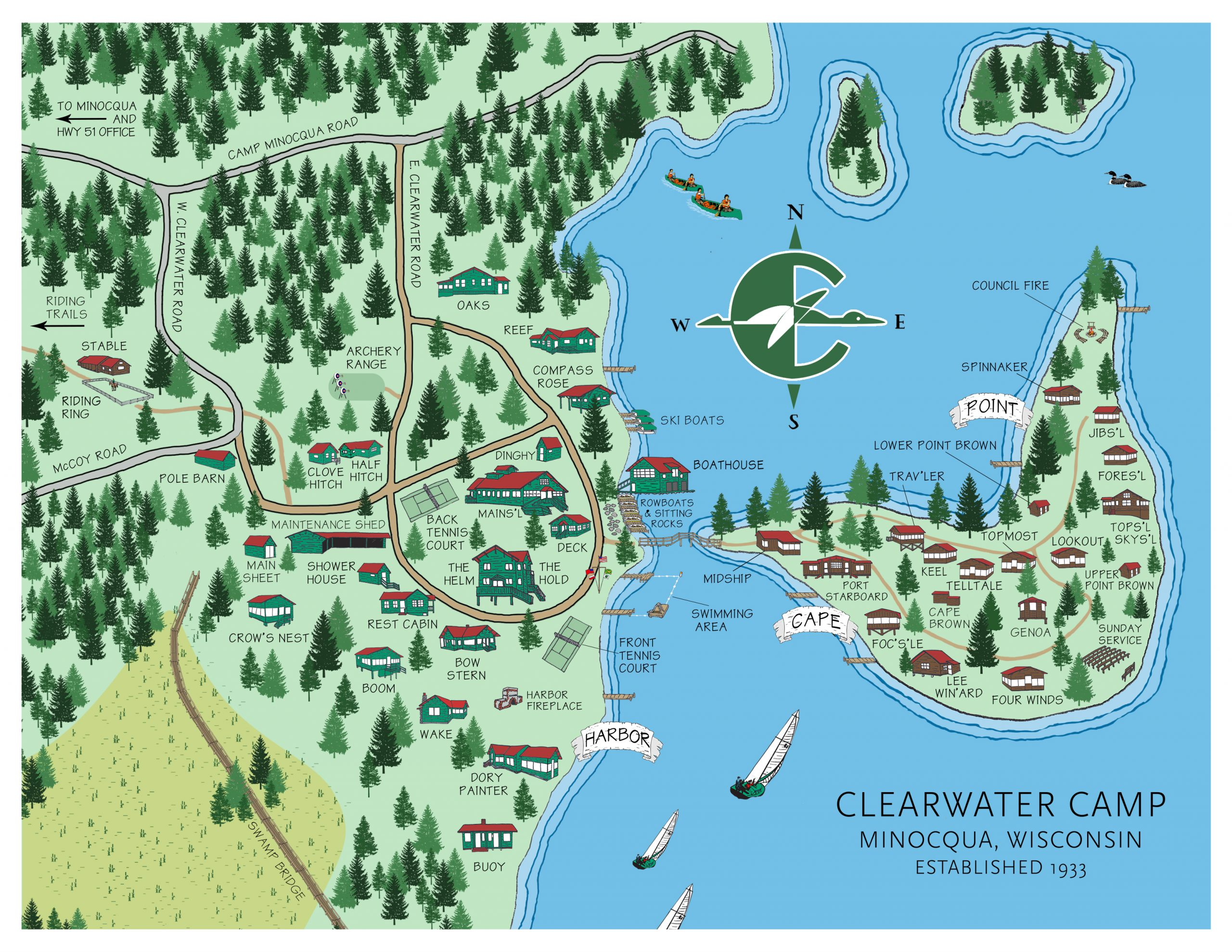 Map of Clearwater